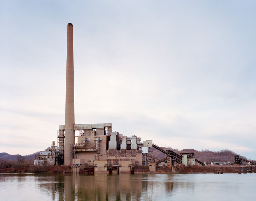 View of the FirstEnergy R.E. Burger power plant in Shadyside, Ohio on 01/31/2016. The plant's coal-fired boilers were taken off line in 2011 and the facility was completely closed in 2015. The site is being considered for a new ethane cracker plant. The processing plant would take ethane from the Utica and Marcellus Shale formations and convert it into ethylene, which is used in the petrochemical industry.©Noah Addis/MSDP 2015