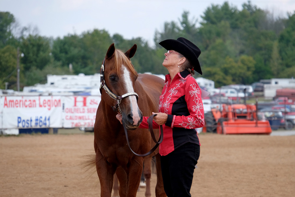 Janet Muffet competing at the Noble County Fair. © Brian Cohen/MSDP 2015