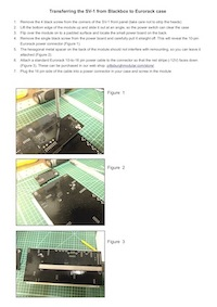 Click the image to download instructions for transferring your SV-1 module from Blackbox to Eurorack case.