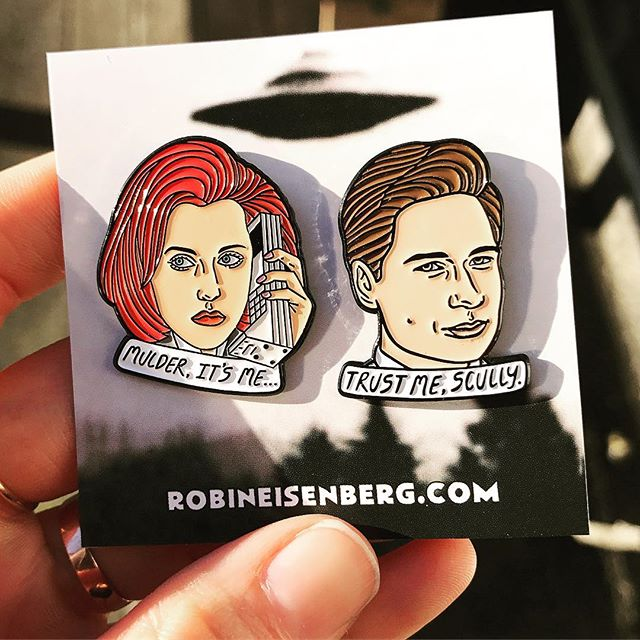 👽sweet little x-files pins by @robineisenberg