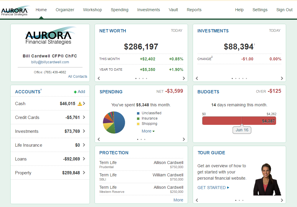 A Sample of Your Personal eMoney Website