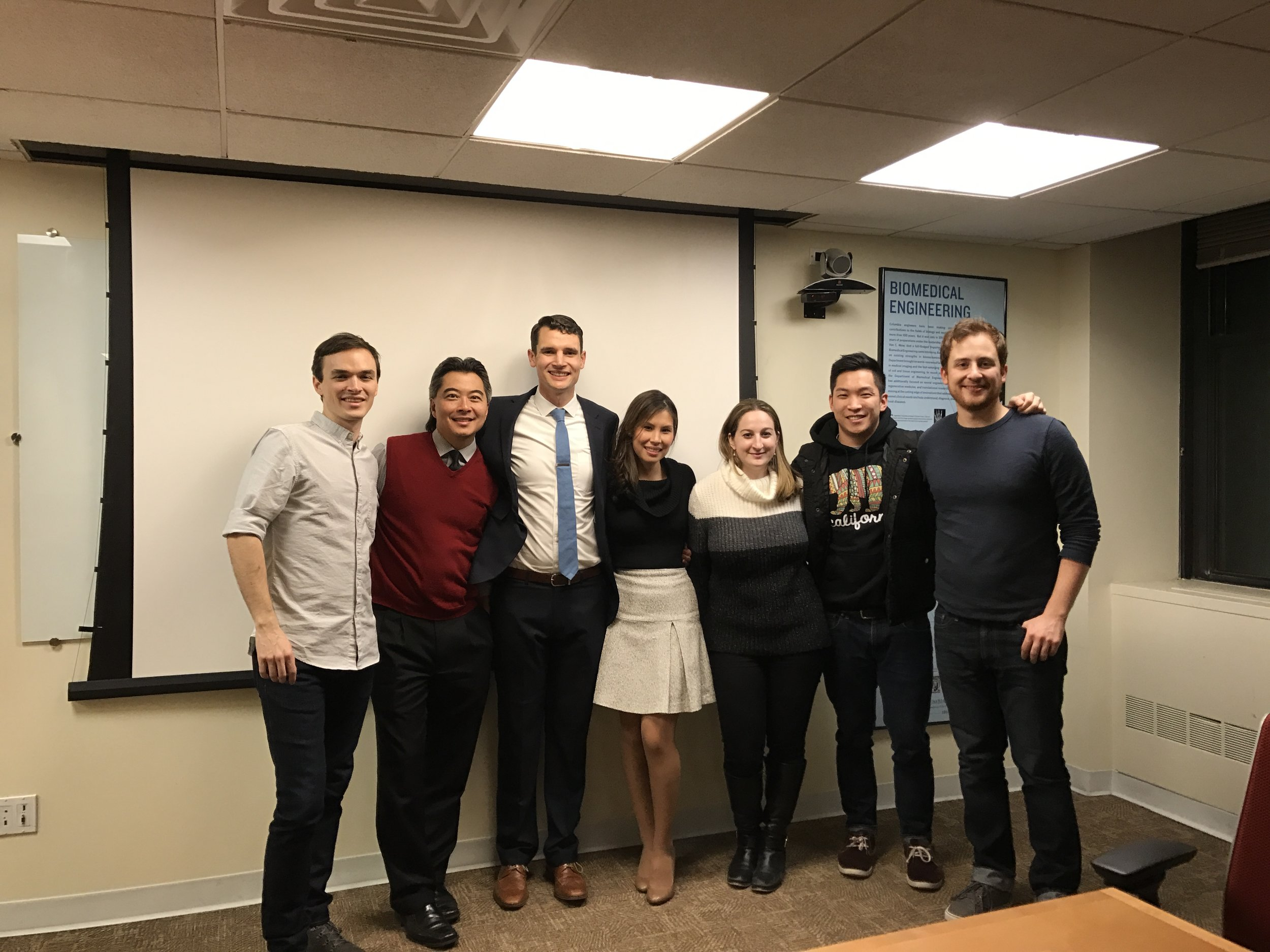 CEL lab members (left to right): Eben Estell, Clark Hung, Brendan Roach, Andrea Tan, Amy Silverstein, Charlie Cai, Rob Stefani