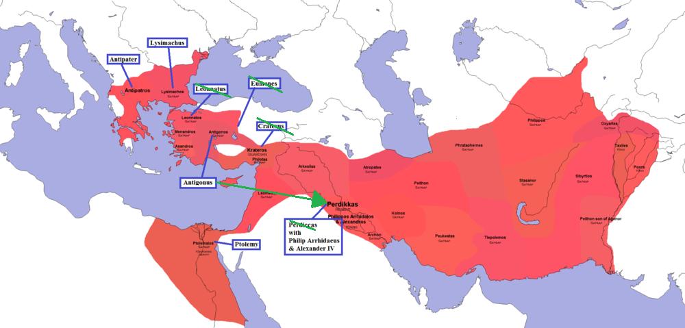 Partition of Triparadisus