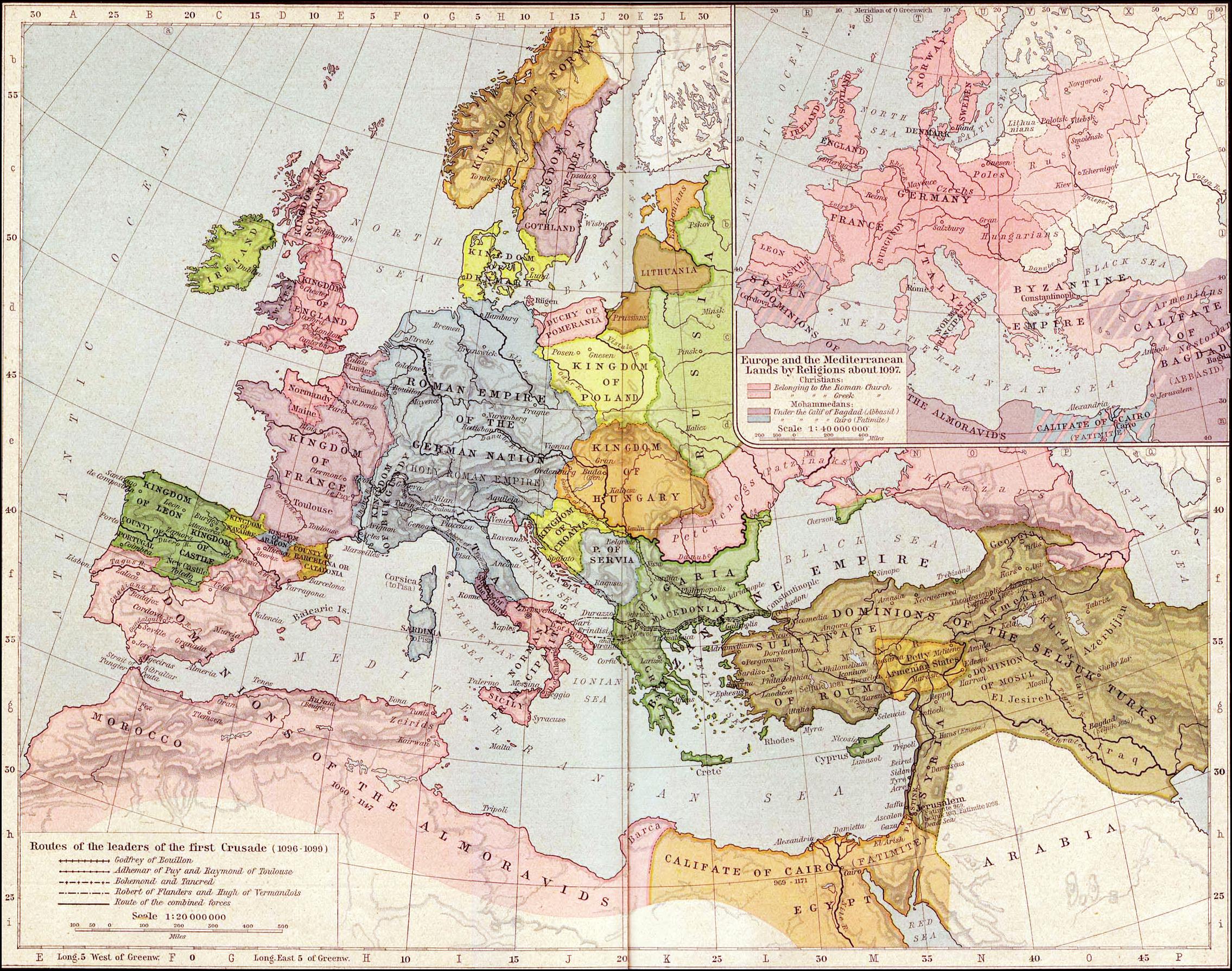 Europe & MENA in 1097