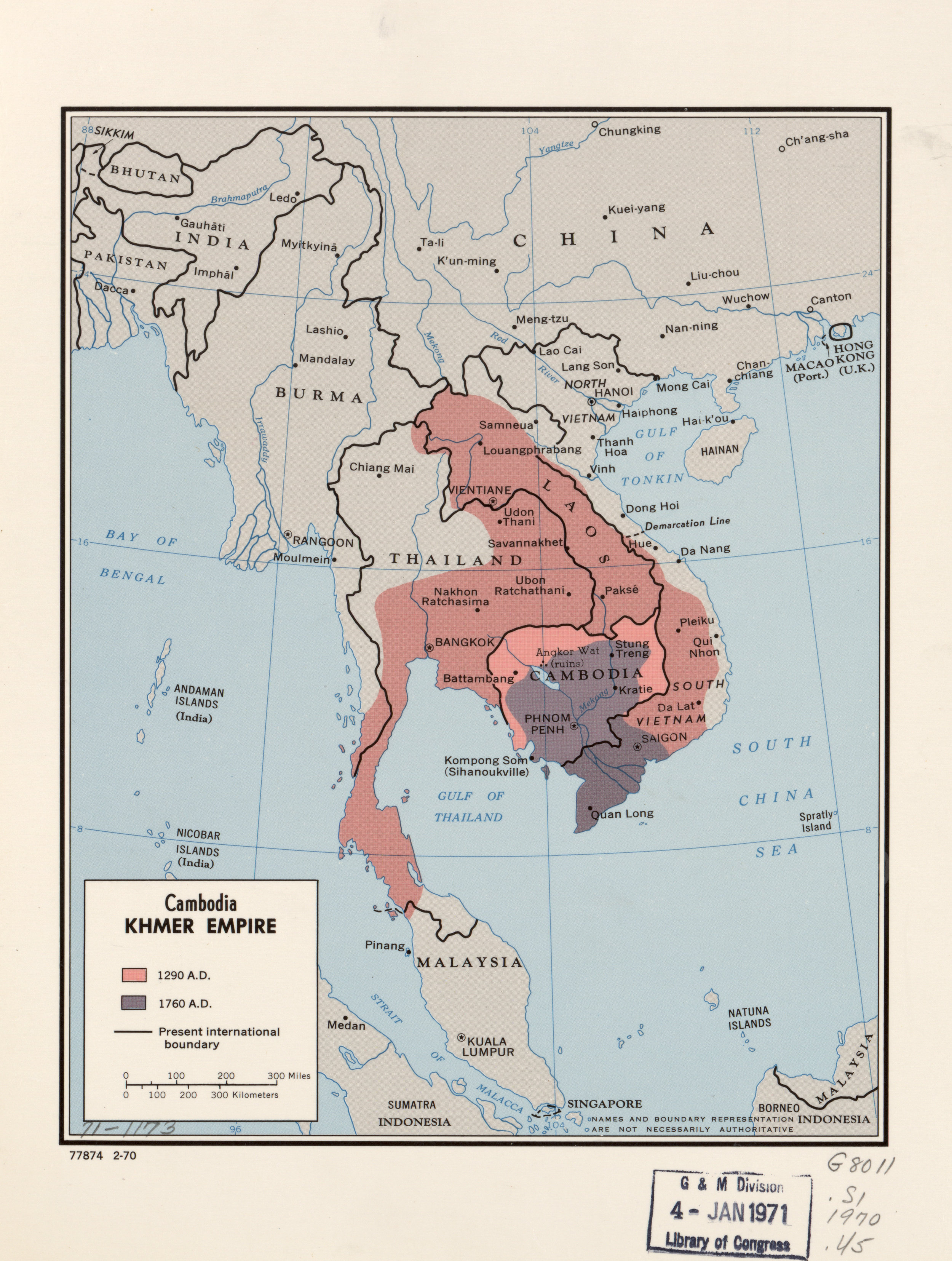 Map of Khmer Empire