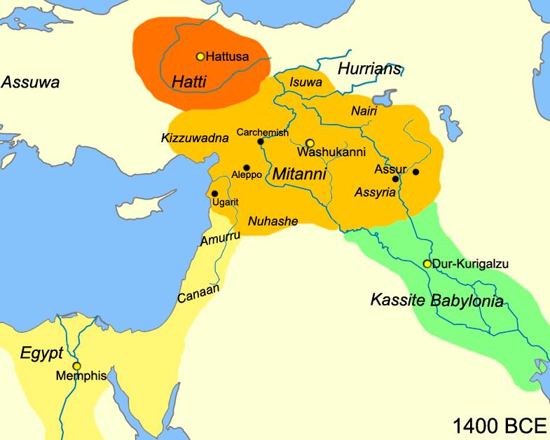 Near East around 1400 BC