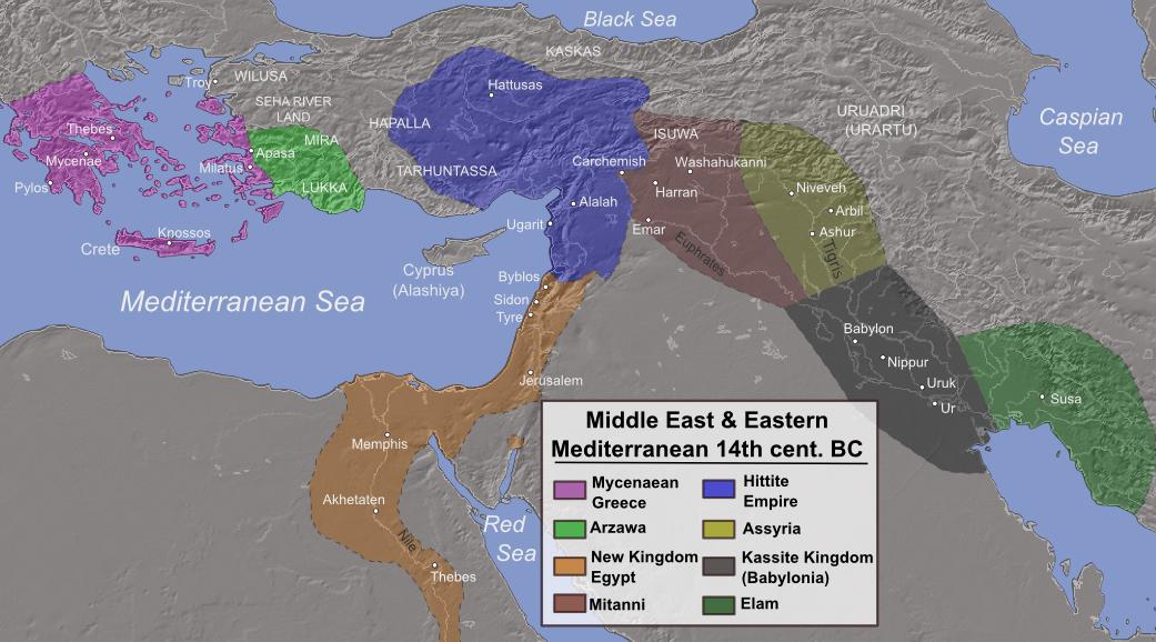 14th c BC Eastern Mediterranean