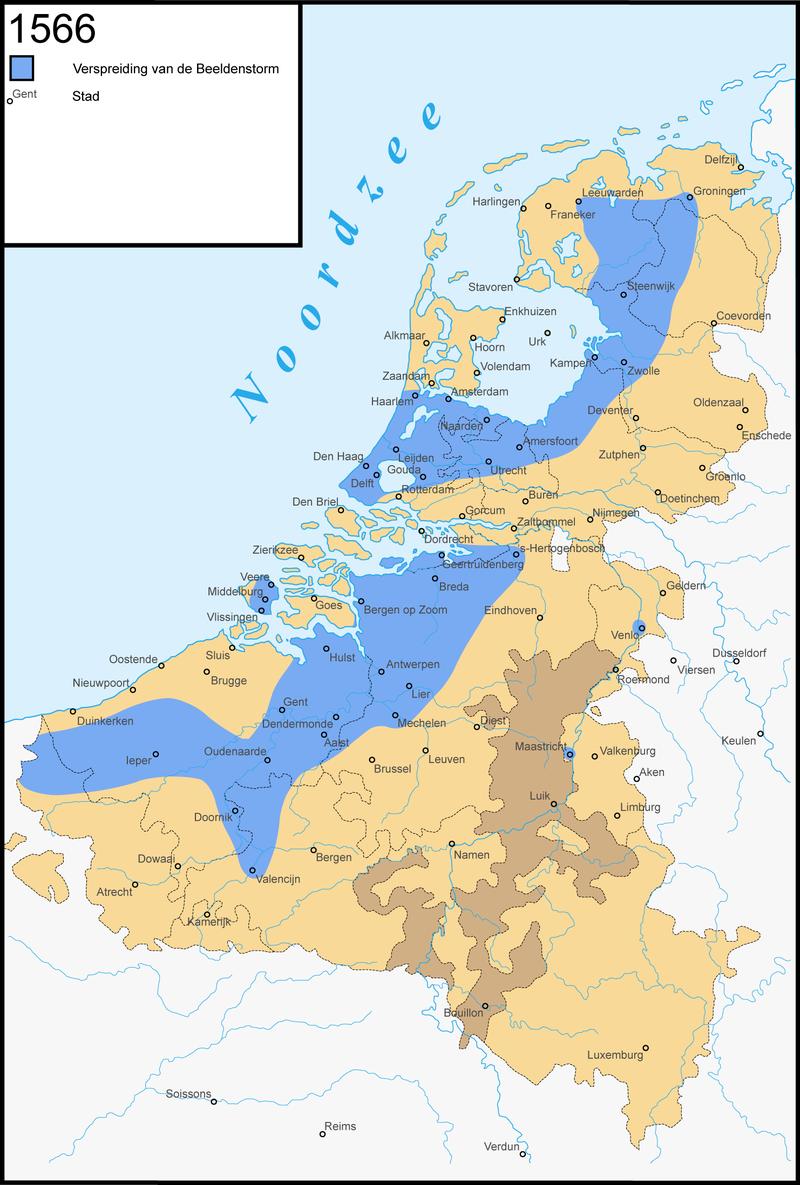 Map of the Beeldenstorm