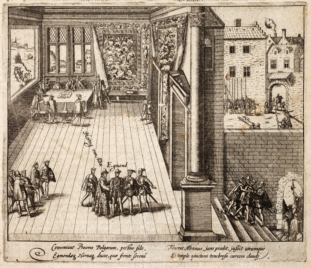Drawing of Egmont's Arrest