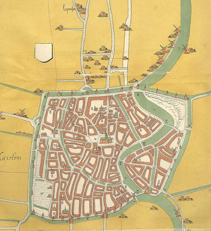 Map of Haarlem