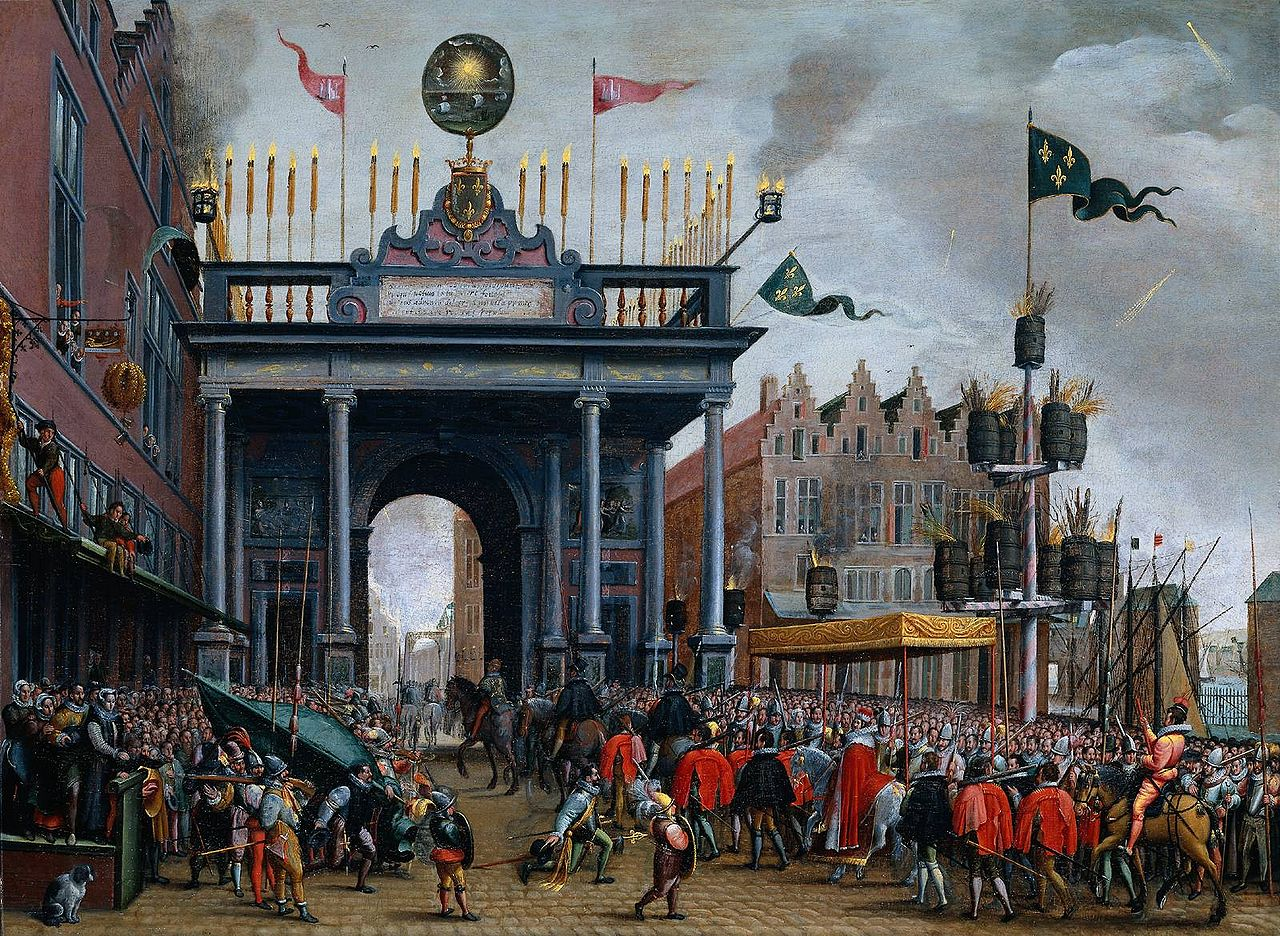 Francis entering Antwerp