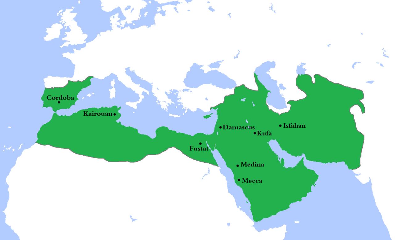 Umayyad Caliphate circa 750