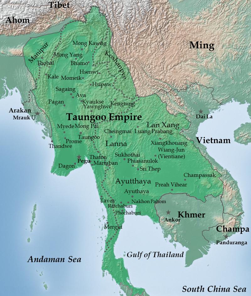 Tuongoo Empire map 1580