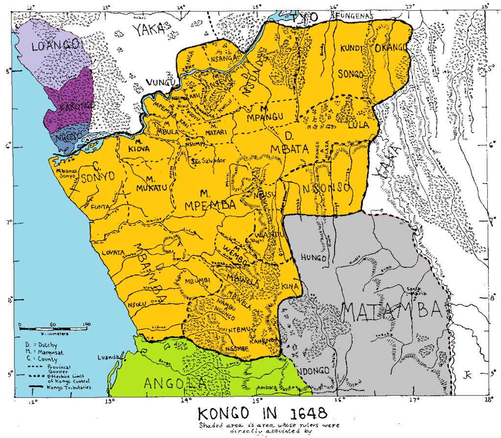 Matamba in relation to Kongo