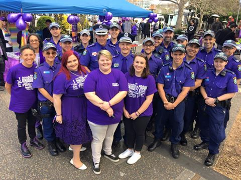 NSW Police show their support for Wear It Purple Day