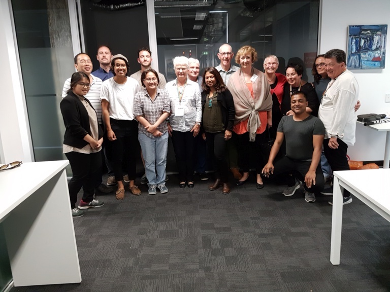 photo taken at ACON on Feb 3 of PFLAG's meeting with the Sydney Queer Muslims
