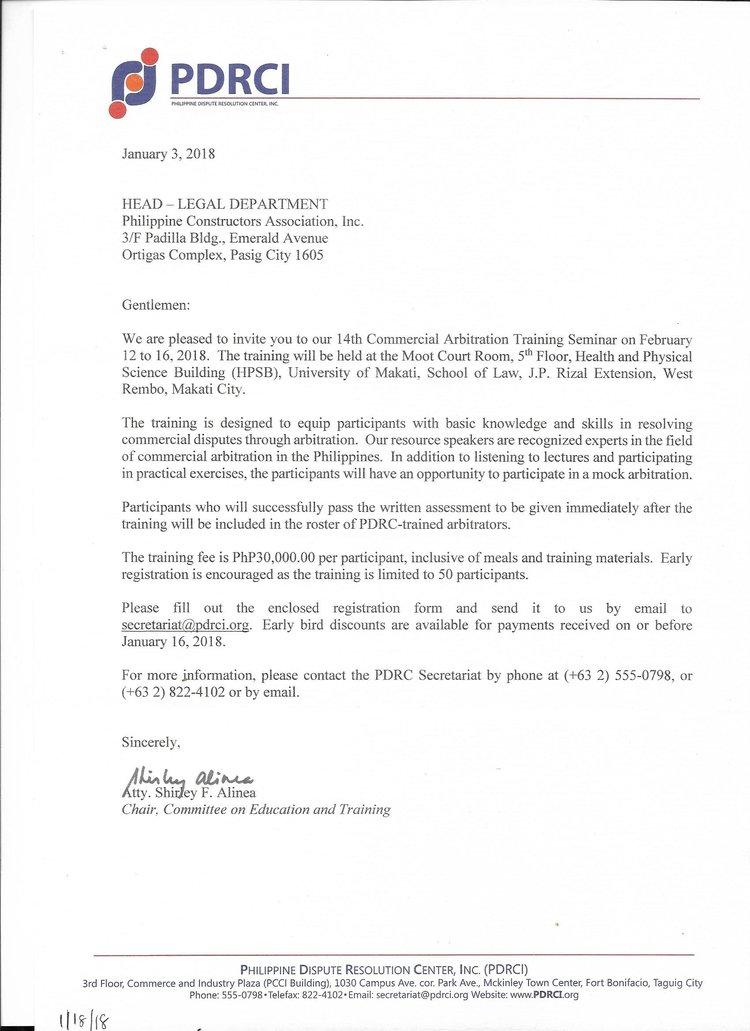 Announcements Philippine Constructors Association Inc