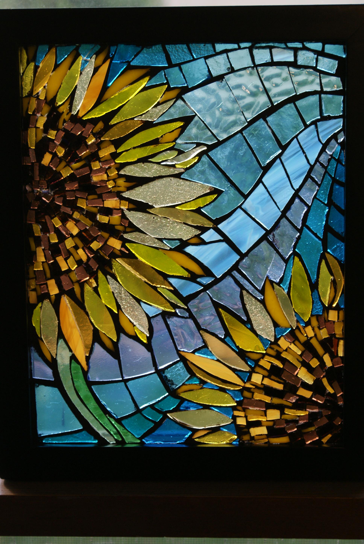 """Backlit Sunflowers"" Mosaic"
