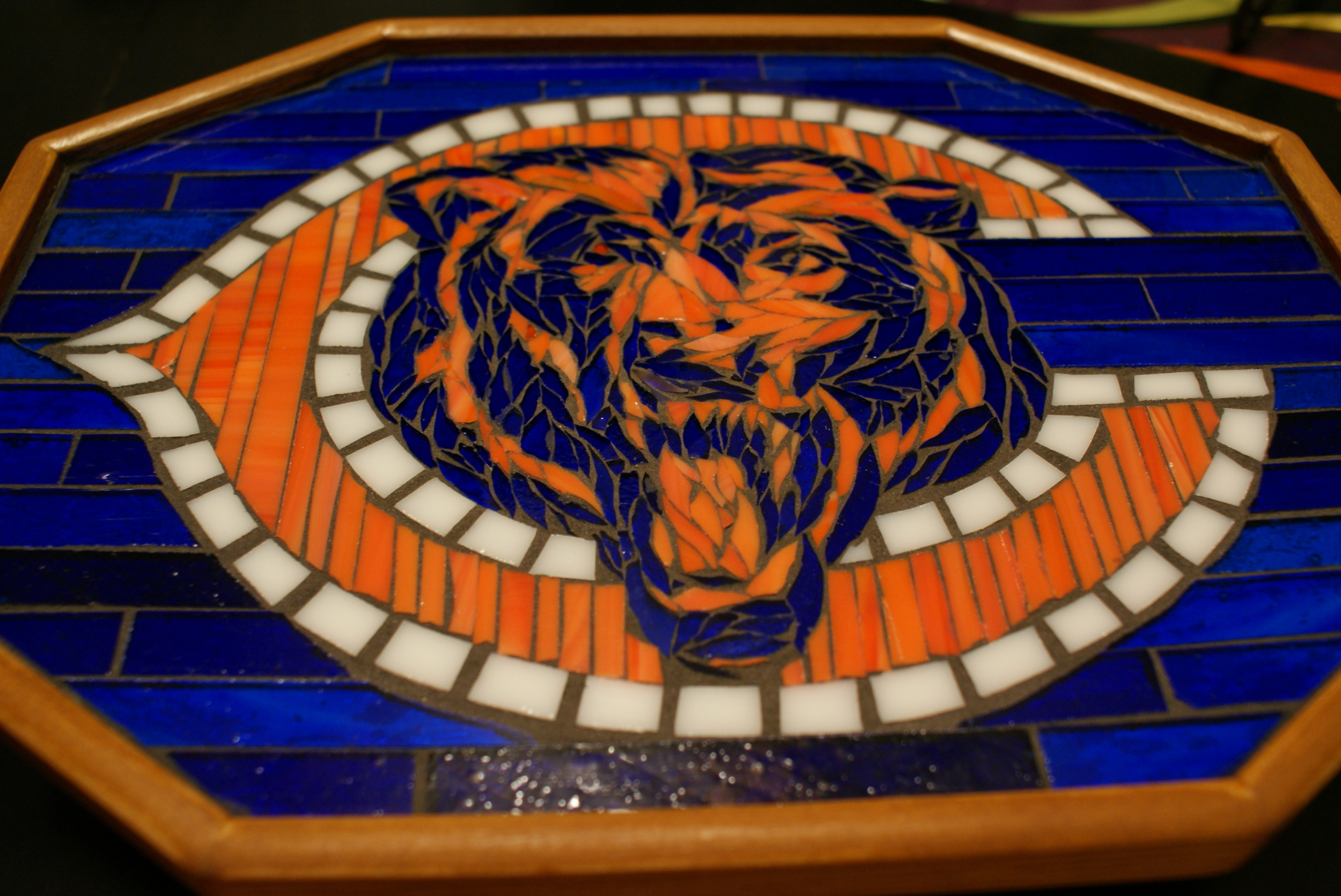 Chicago Bears Mosaic Table