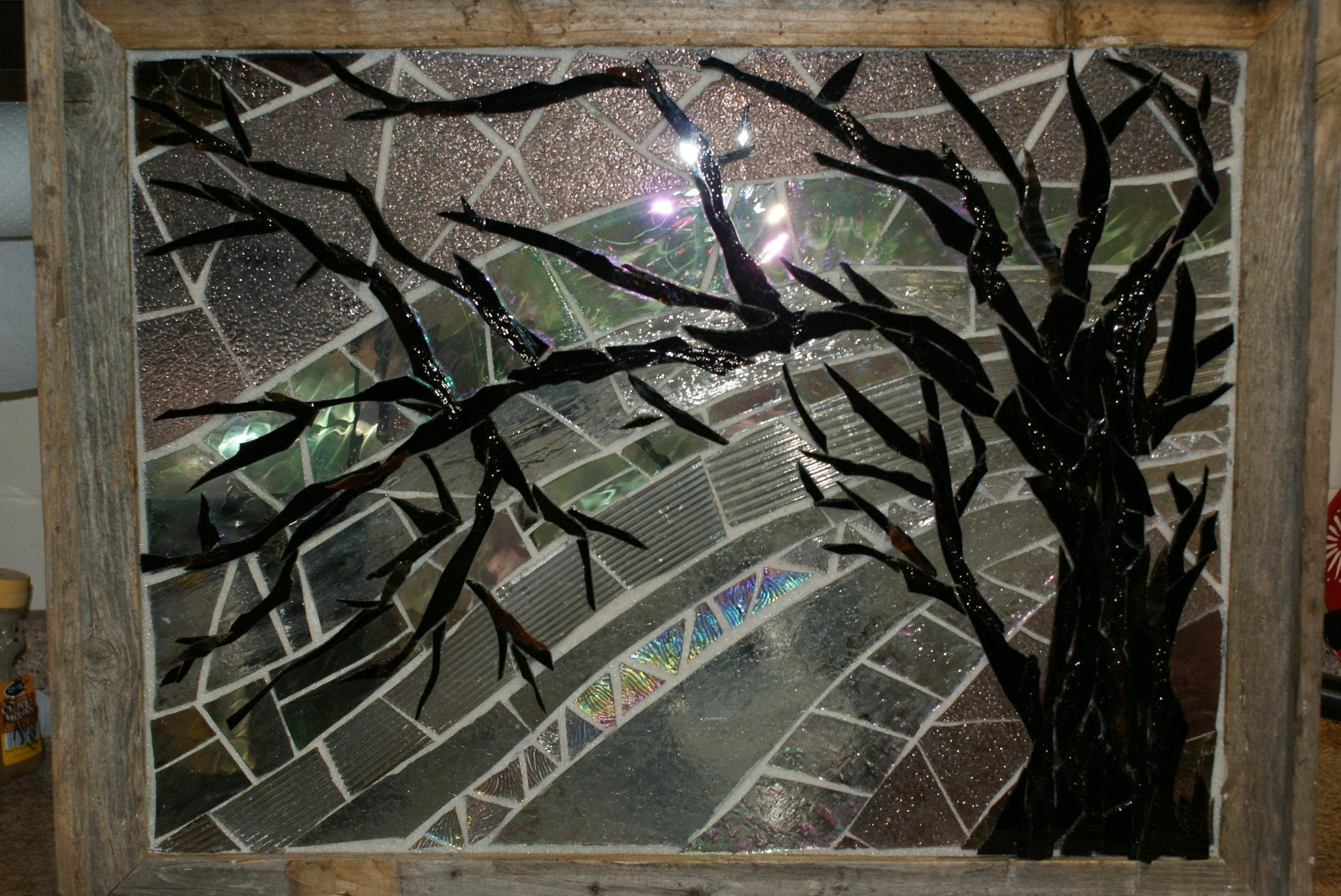 """Tree for Liz"" Glass Mosaic"
