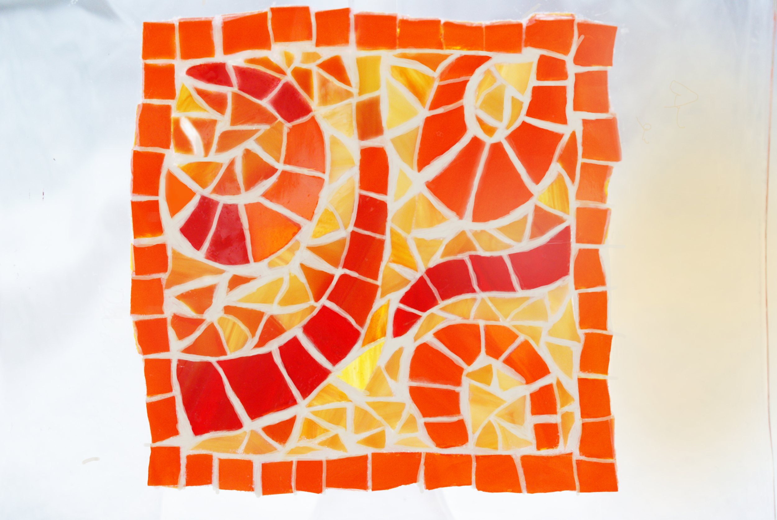 """""""Orange Swirls"""" Mosaic"""