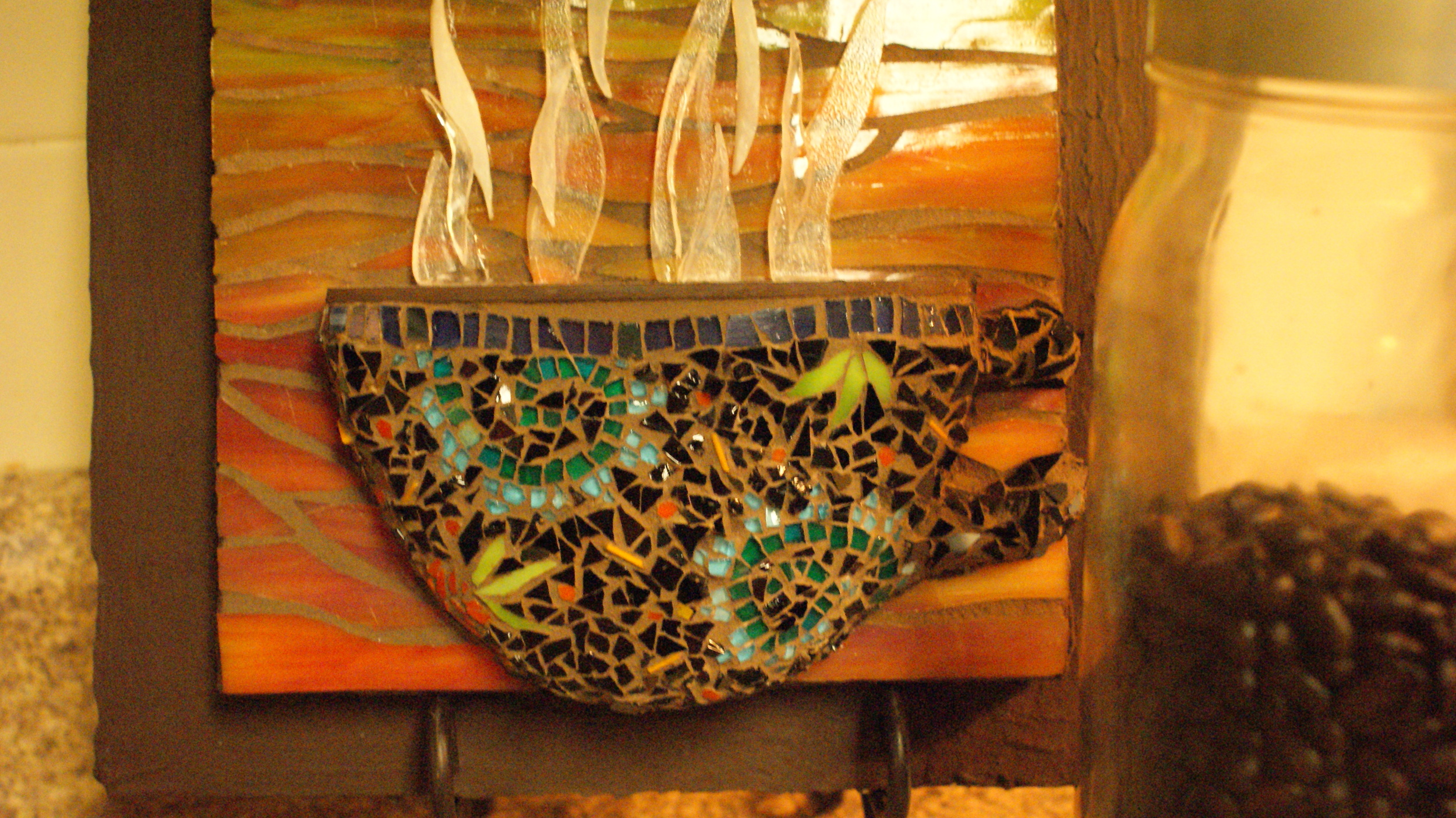 """Coffee Mug for Sherri"" Glass Mosaic."