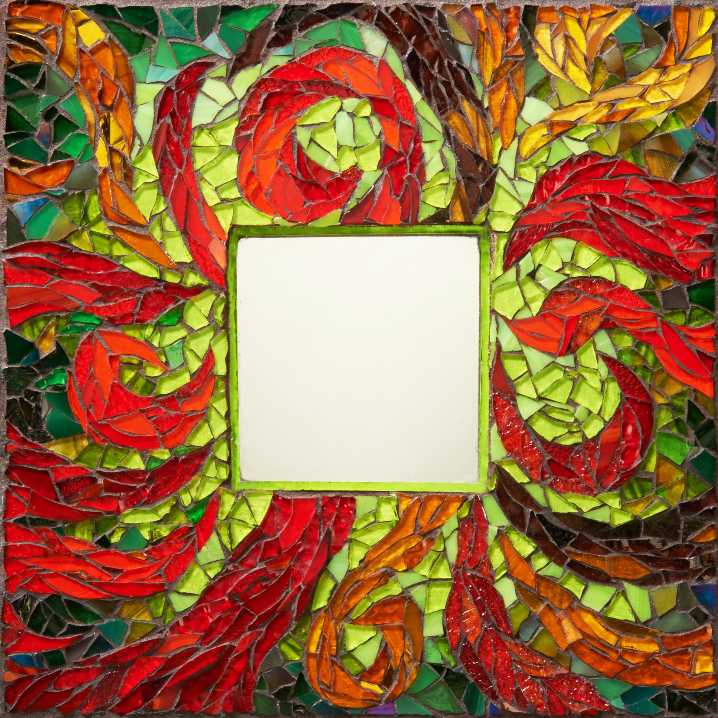 Swirls Glass Mosaic