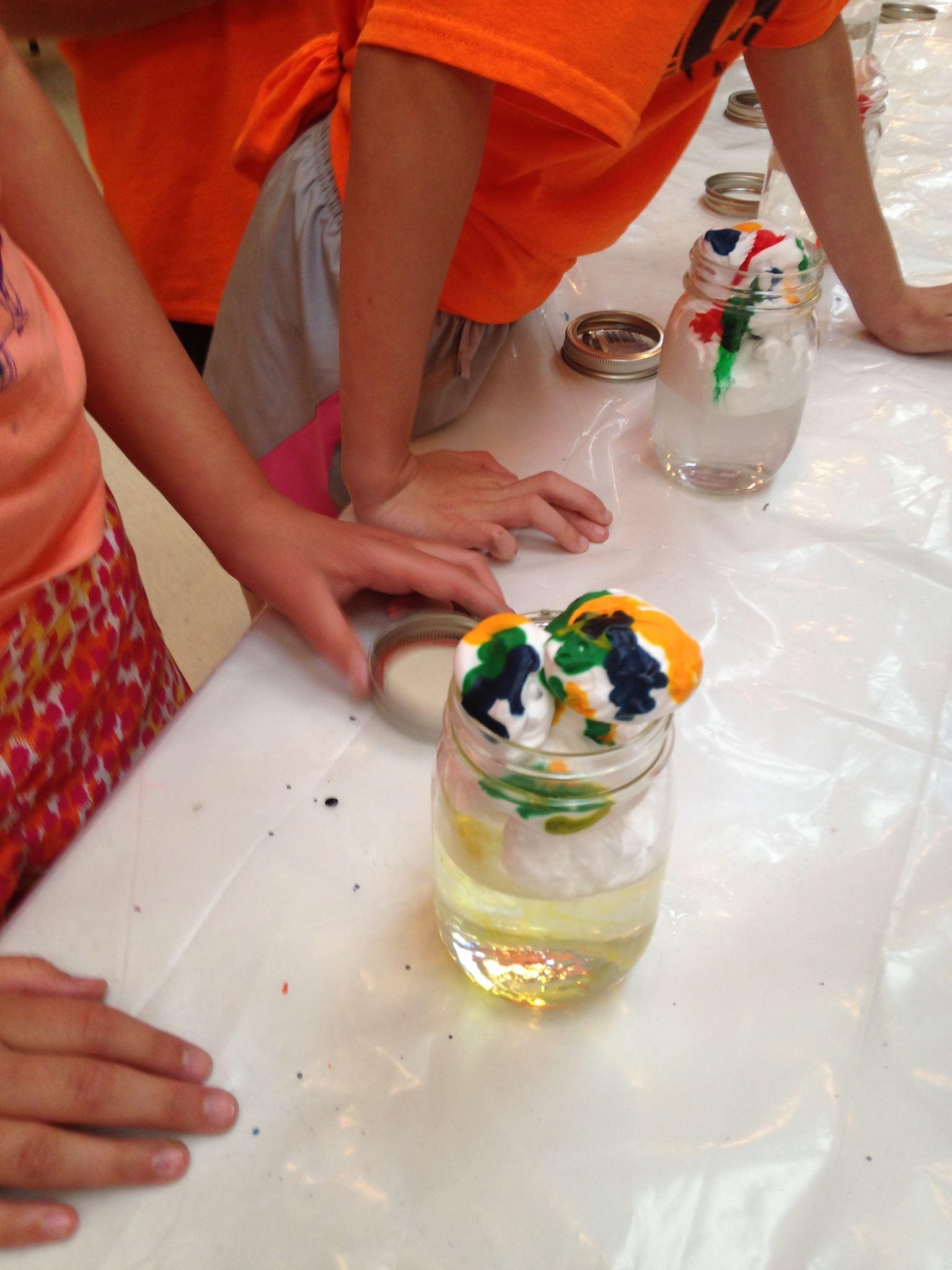Art and Science meet at Art Camp.