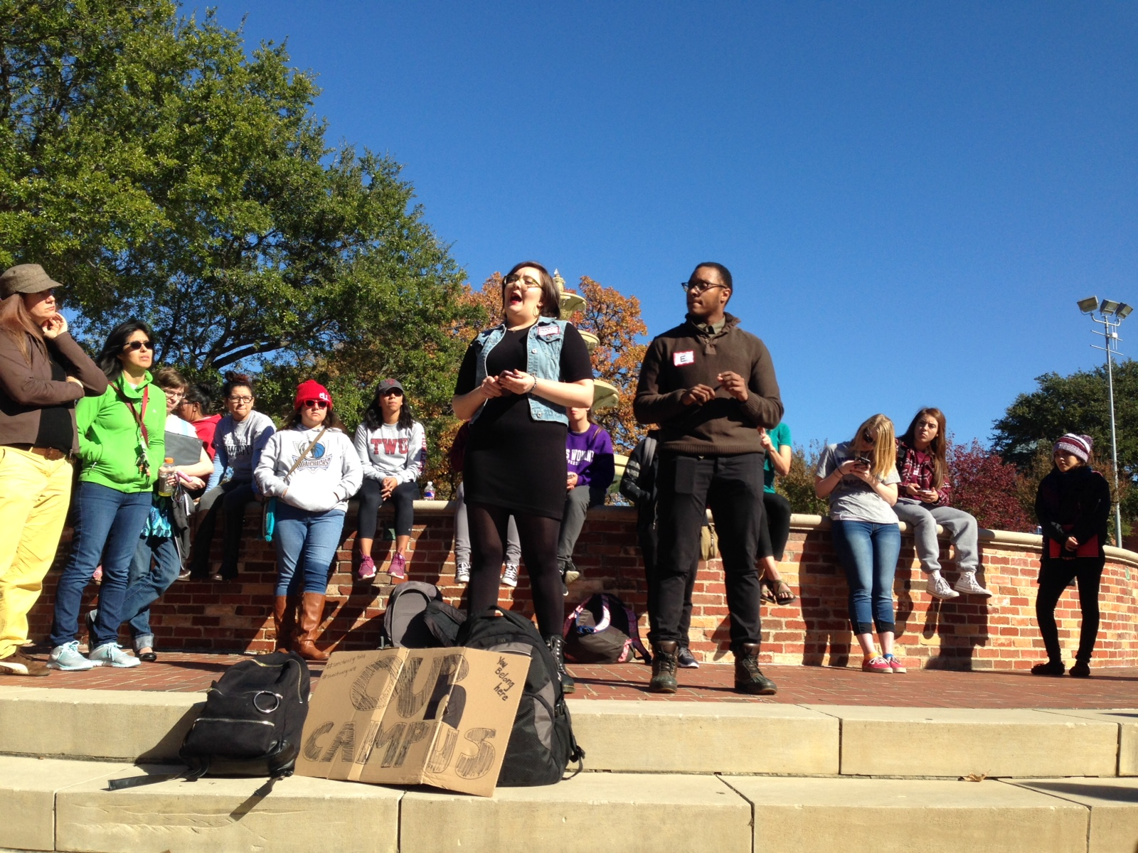 TWU Walkout. Photo by Jackie Thompson.