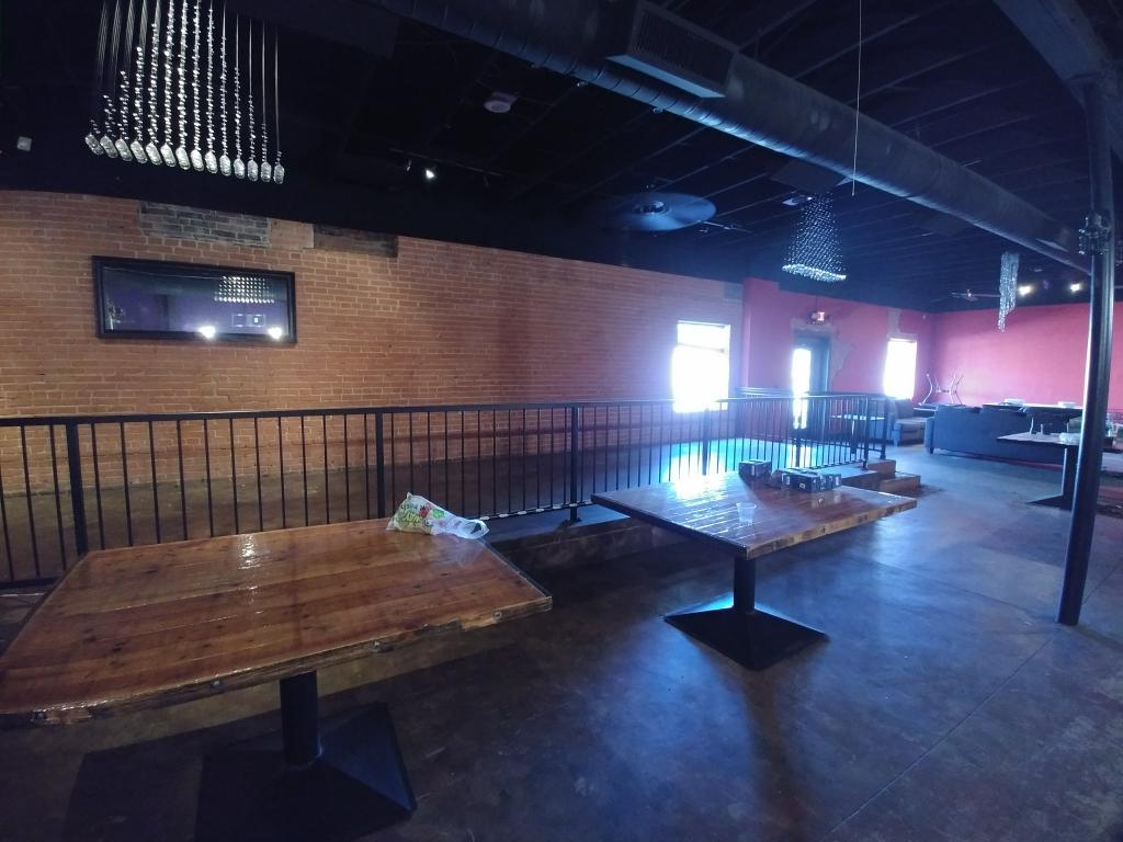 Picture of the not yet renovated space where Q's Cafe will be.  Photo courtesy of Stephanie Davis.
