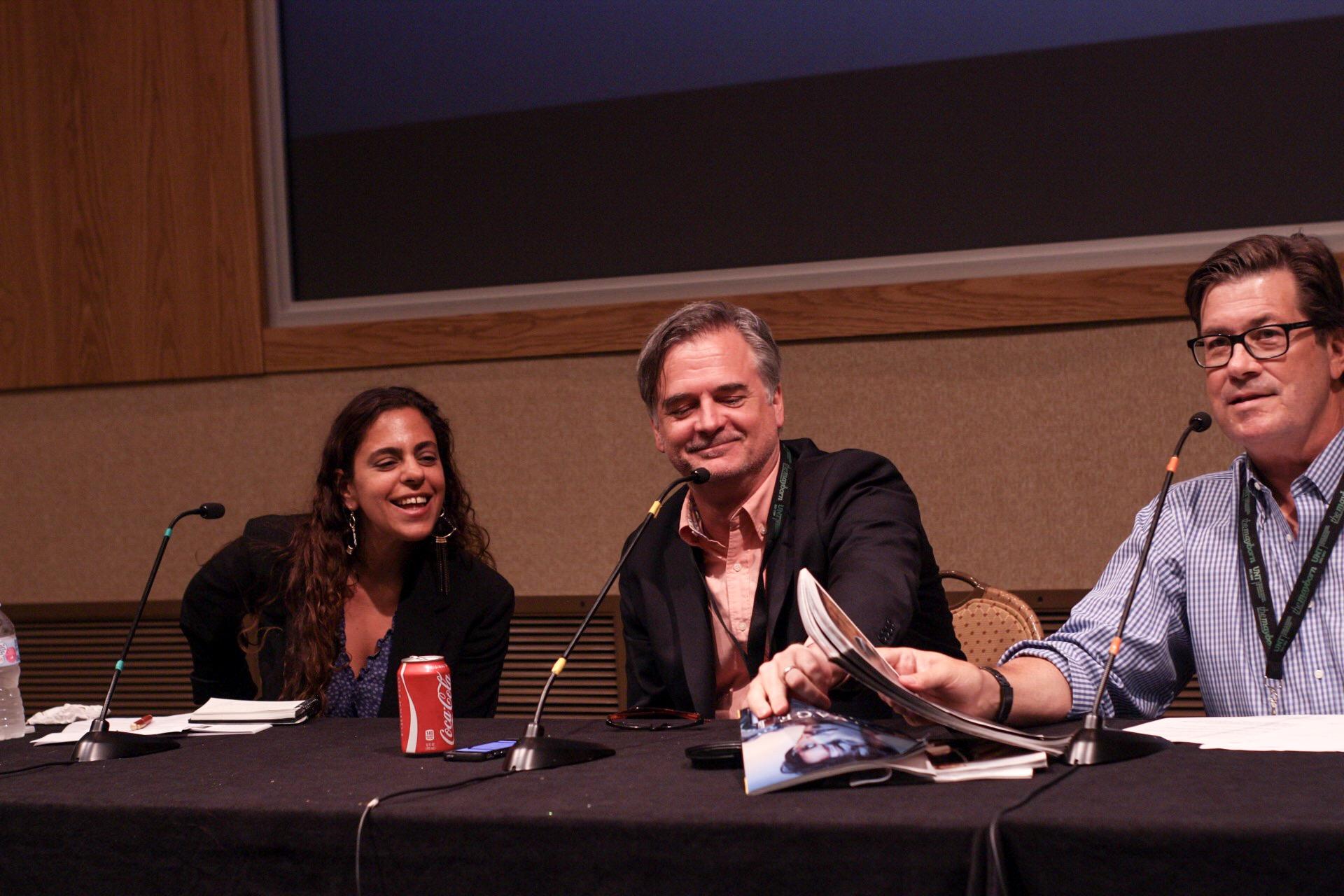 From left to right: Vanessa Grigoriadis, Stephen Rodrick, Skip Hollandsworth