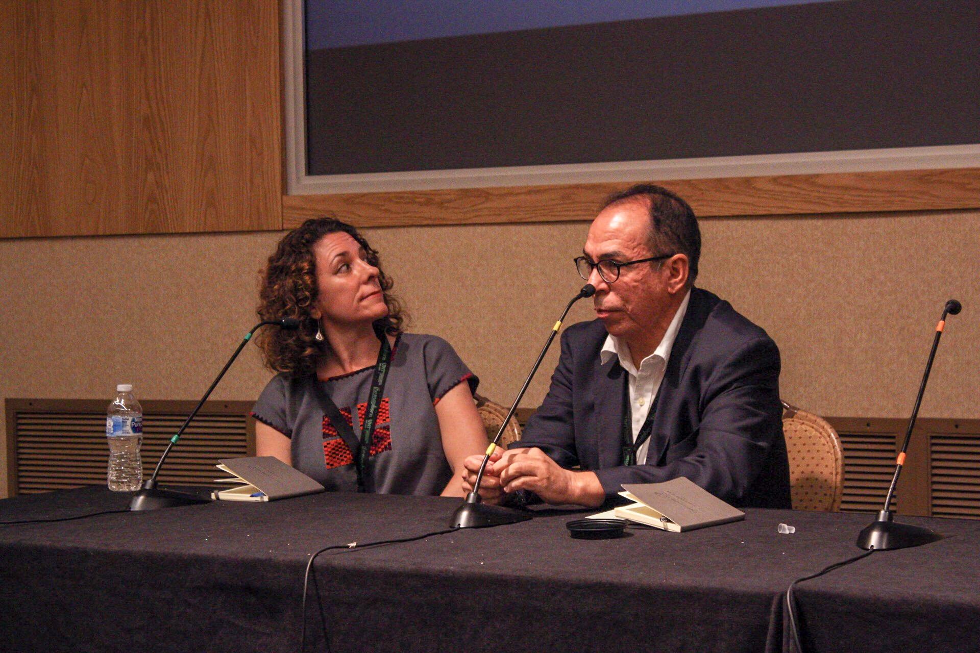 From left to right: Melissa Del Bosque, Alfredo Corchado.