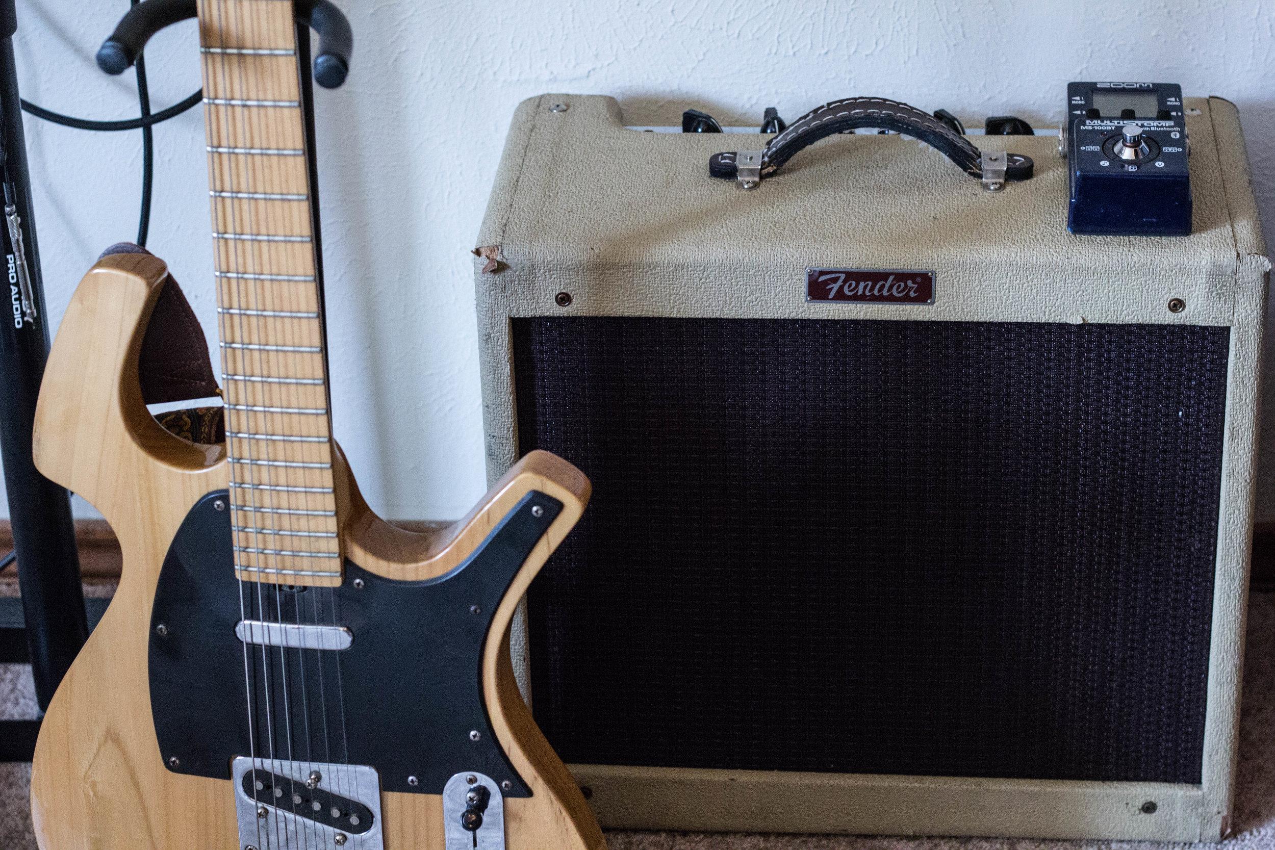 AMP -  Fender Blue Jr.   GUITAR - Parker Brand  PEDAL -  ZOOM Multistomp MS-100BT
