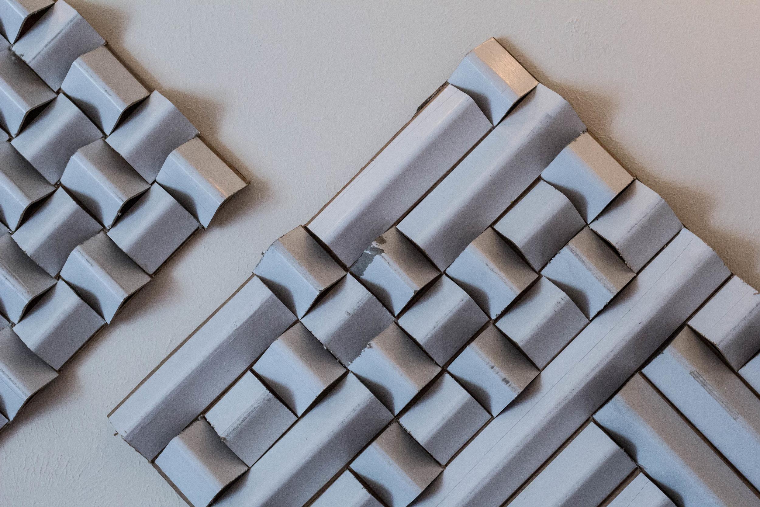 Handmade industrial cardboard diffusers