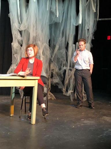 Taylor Reed (left) and Kurt Van Zandt (right) as detectives.