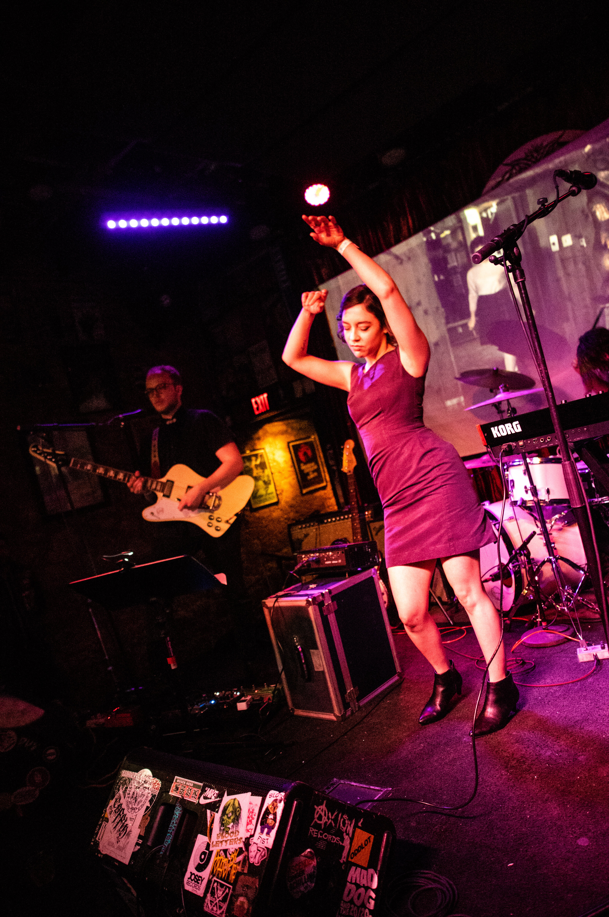 Nicole Marxen-Myers performs with the Audrey Horne band at Three Links, TX