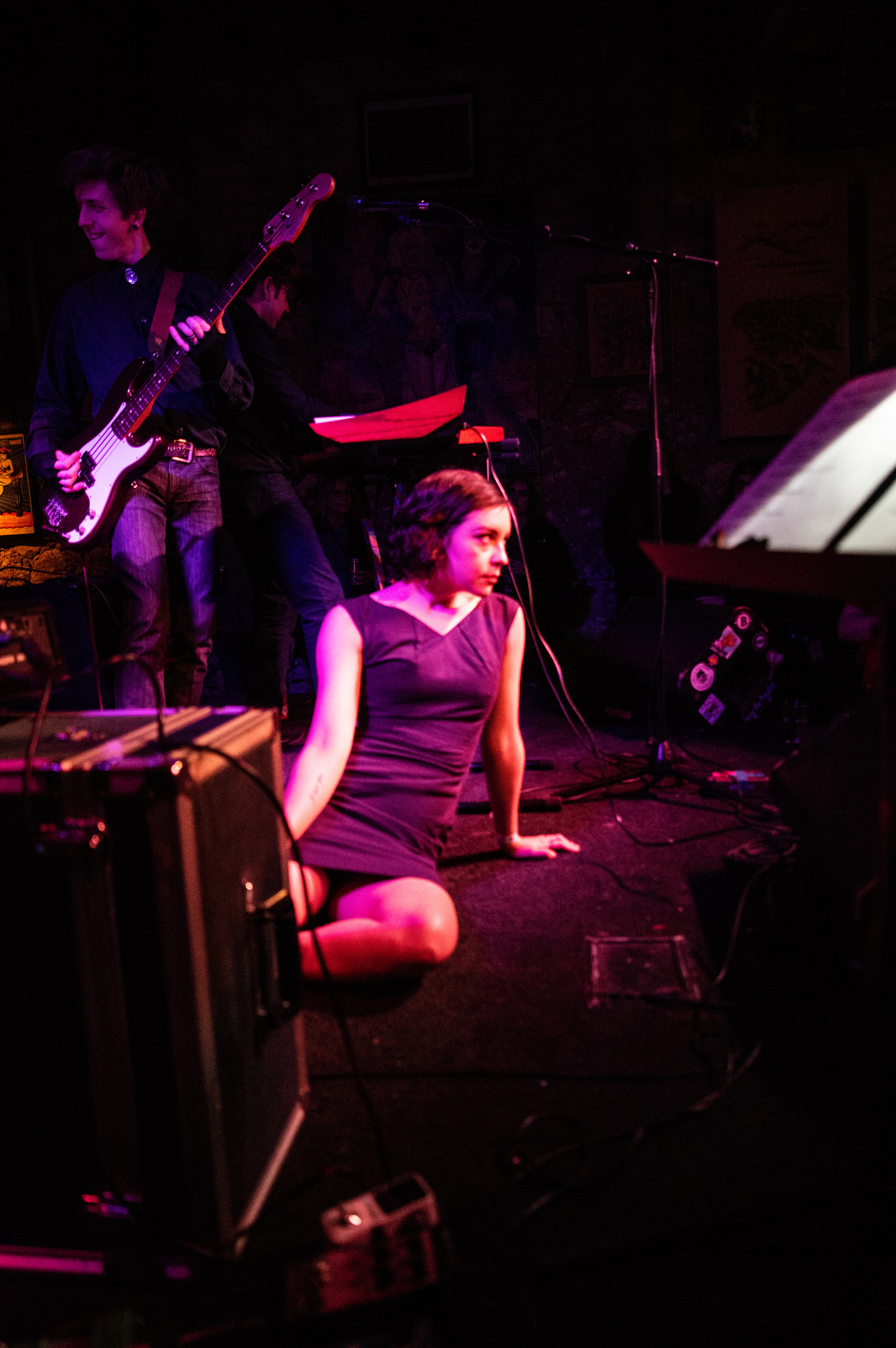 Nicole Marxen-Myers performs with the Audrey Horne band, Three Links