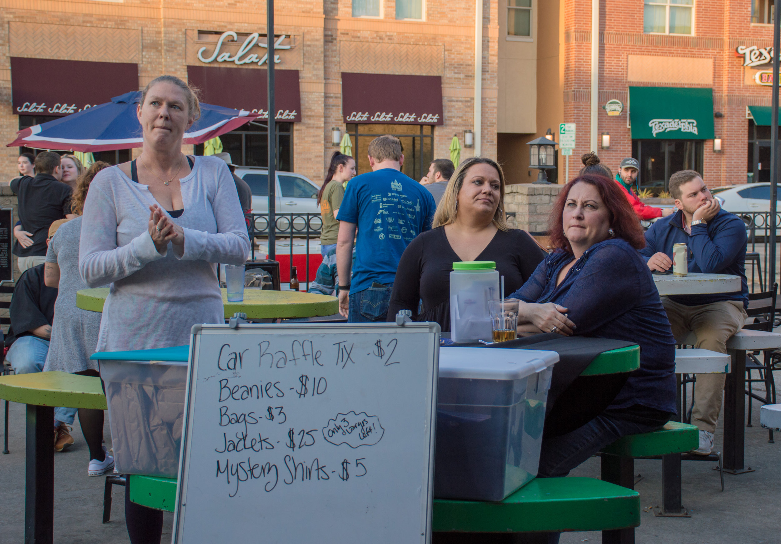 'Friends with Benefits', a local fundraiser selling raffle tickets for great prizes during the game.