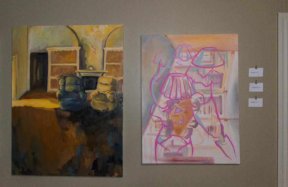 Left: Jess des Bordes - oil on canvas. Right: Sarah Wuenscher - oil on canvas
