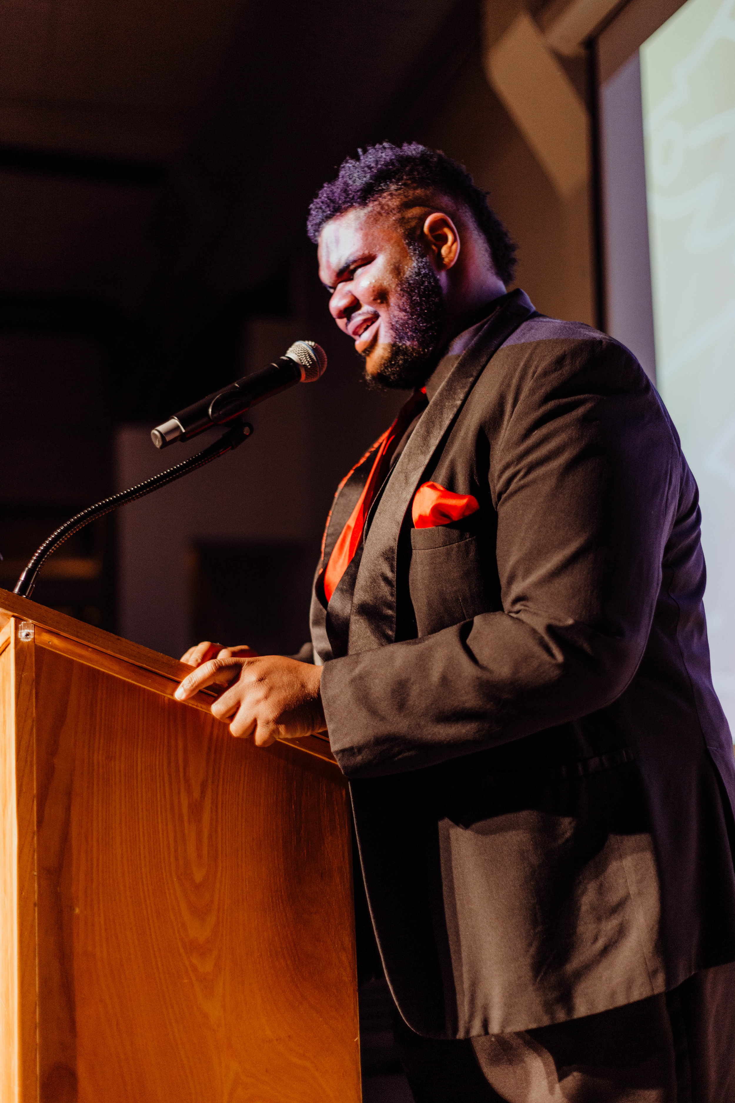 Host Javoris James doing his thing during the awards.
