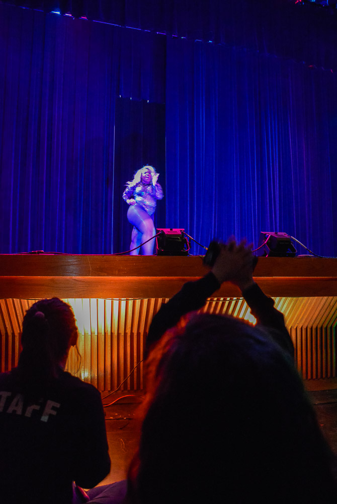 Mizz Jelly, First time entertainer and a fellow TWU student is received with clapping hands