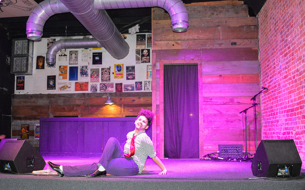 Richie Riche - first time drag king performing.