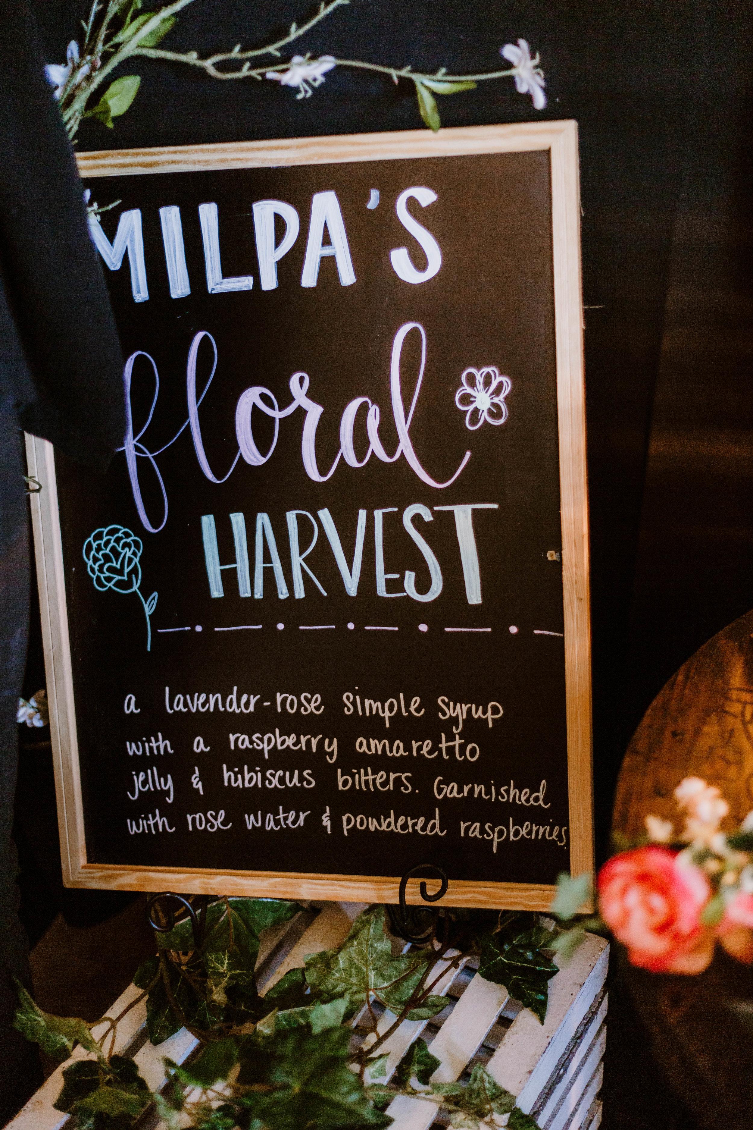 Milpa's Floral Harvest margarita.