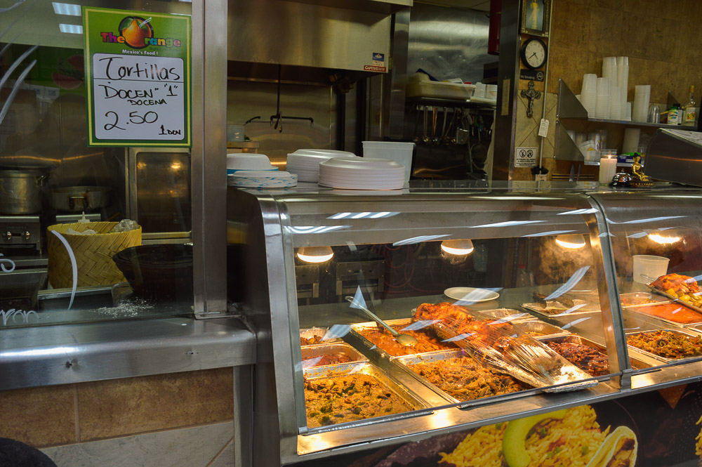 Orange Market restaurant - Mexican deli, 'come up and order' style.