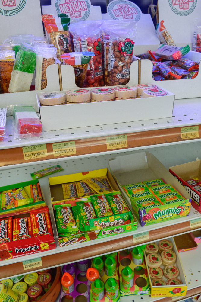 A variety of traditional Mexican candy that are sold in almost every store you go to in Mexico - even shoe shops - are available at La Estrella Mini-Mart.
