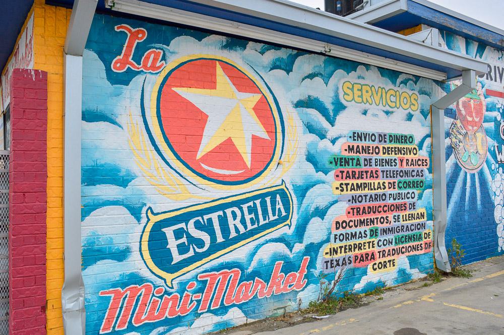 La Estrella Mini Market services - food, sending money, defensive driving, phone cards, mail stamps, public notary, document translation, immigration formed.