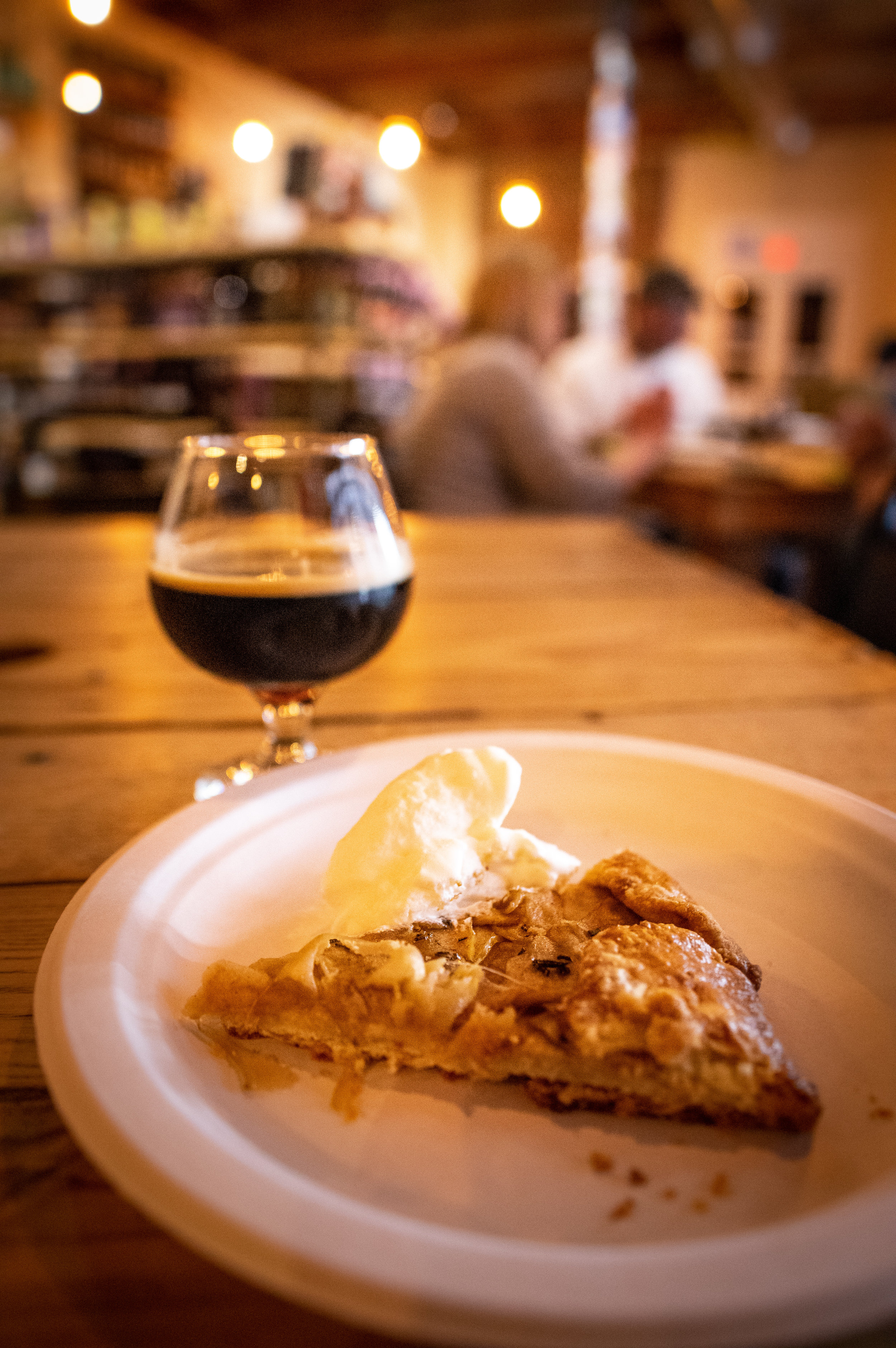 The galette with Lakewood's French Quarter Temptress, a milk stout with coffee and chicory.