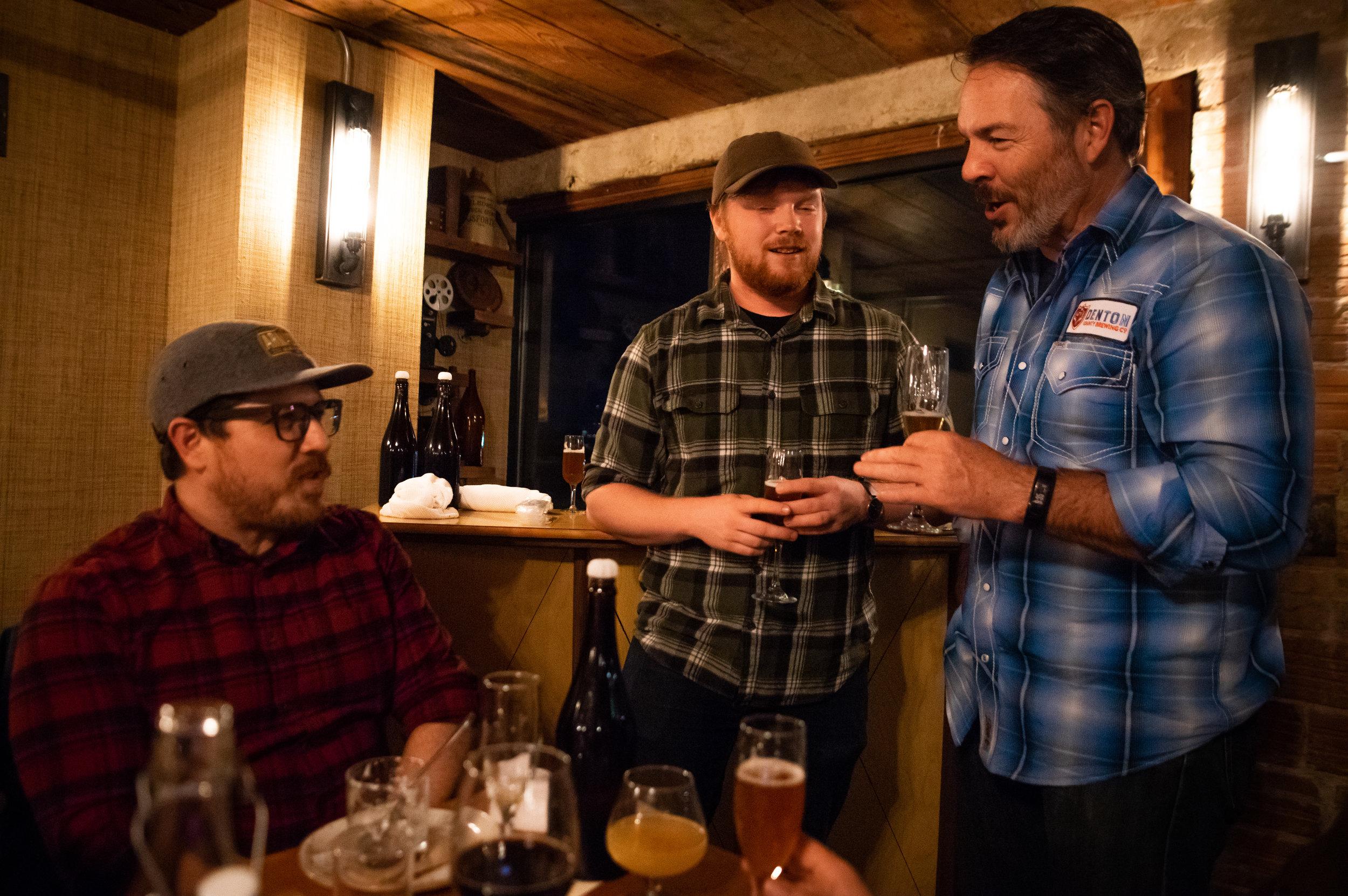 The Brewers Three: Bobby Mullins, Austin Ford, and Seth Morgan.