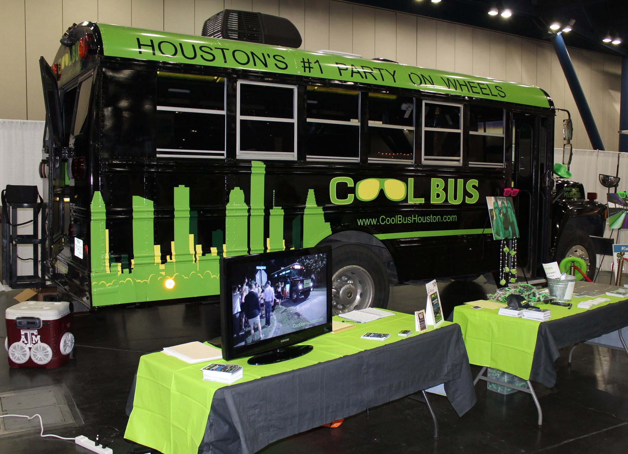 Cool Bus Houston at the Bridal Extravaganza in Houston, TX
