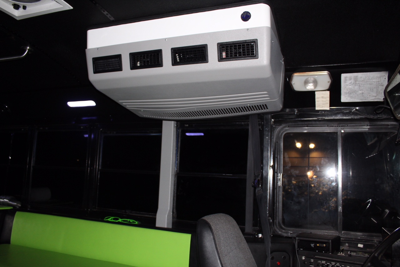 Cool Bus Houston party bus - AC Install